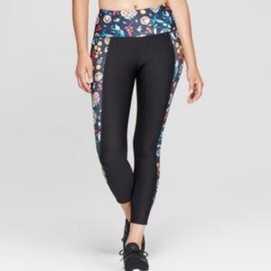 NWT Joy Lab 3/4 High Rise Legging Black Floral XS